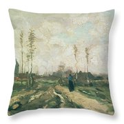 Landscape With A Church And Houses Throw Pillow