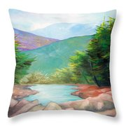 Landscape With A Creek Throw Pillow