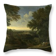Landscape With Abraham And Isaac Throw Pillow