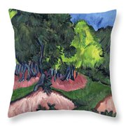 Landscape With Chestnut Tree Throw Pillow