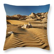 Landscape With Mountains In Egyptian Desert Throw Pillow