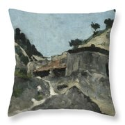 Landscape With Water Mill, C.1871 Throw Pillow