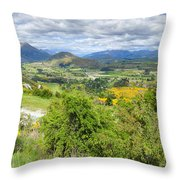 Landscape With Winding Road Throw Pillow