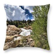 Alluvial Fan Colorado Throw Pillow