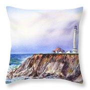 Lighthouse Point Arena California  Throw Pillow