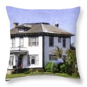 Landscaping Of A Home Throw Pillow