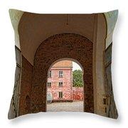 Landskrona Citadel Entrance Throw Pillow