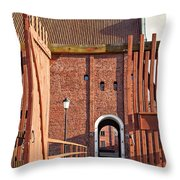 Landskrona Citadel In Sweden Throw Pillow