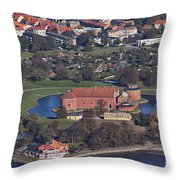 Landskrona Citadel Photographed From The Air Throw Pillow