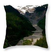 Landslides At Mount Rainier Throw Pillow