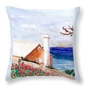 Lane In Old Bermuda Throw Pillow