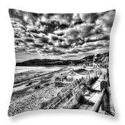 Langland Bay Mono Throw Pillow