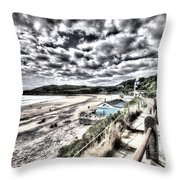 Langland Bay Painterly Throw Pillow