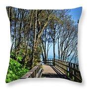 Langmoor-lister Gardens Throw Pillow