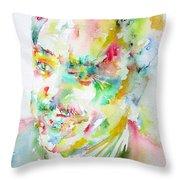 Langston Hughes Throw Pillow