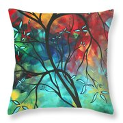 Languishing In The Breeze Original Art Madart Throw Pillow