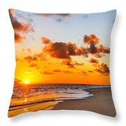 Lanikai Beach Orange Sunrise 3 To 1 Aspect Ratio Throw Pillow