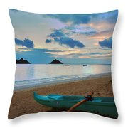 Lanikai Beach Sunrise 6 - Kailua Oahu Hawaii Throw Pillow