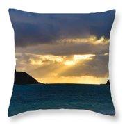 Lanikai Beach Sunrise Panorama 2 - Kailua Oahu Hawaii Throw Pillow