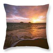 Lanikai Sunrise Throw Pillow
