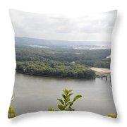 Lansing Bridge Panoramic Throw Pillow