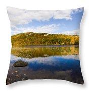 Lantern Hill Pond - North Stonington Ct Throw Pillow