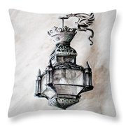 Lantern In Broad Daylight Throw Pillow