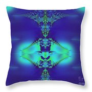 Lantern Of Sapphire Throw Pillow
