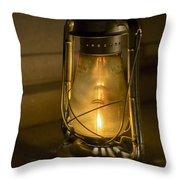 Lantern On Granite Throw Pillow