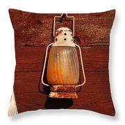 Lantern On Red Throw Pillow