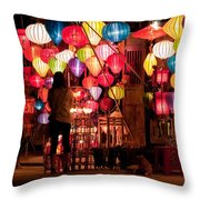 Lantern Stall 01 Throw Pillow