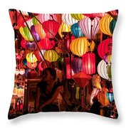 Lantern Stall 02 Throw Pillow