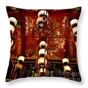 Lanterns And Dragons Throw Pillow