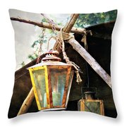 Lanterns Throw Pillow by Marty Koch