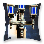 Lanterns Out Of The Blue Throw Pillow
