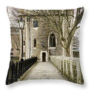 Lanthorn Tower Throw Pillow by Heather Applegate