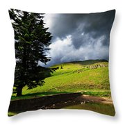 Lanty's Tarn On A Stormy Afternoon Throw Pillow