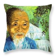 Lao Tzu Throw Pillow by Jane Small
