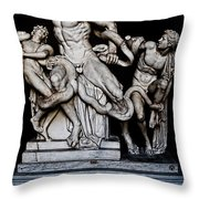 Laocoon And The Snake Throw Pillow