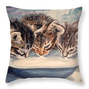 Lap Of Luxury Kittens Throw Pillow