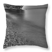 Lapping Waters On The Shore Throw Pillow