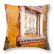 Lararium Of Family Altar, Seen In Situ Throw Pillow