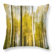 Larch Grove Blurred Throw Pillow