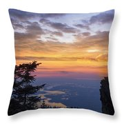 Larch Mountain Sunset Throw Pillow