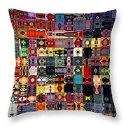 Larg Blocks Digital - Various Colors I Throw Pillow