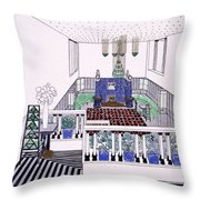Large Balconied Reception Room Throw Pillow