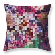 Large Blocks Digital Abstract - Purples Throw Pillow