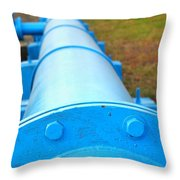Large Blue Pipeline Throw Pillow
