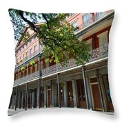 Upper Pontalba Building Photo Throw Pillow