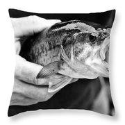 Large Mouth Bass Throw Pillow